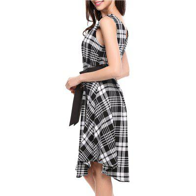 Casual lounge V collar sleeveless dressWomens Dresses<br>Casual lounge V collar sleeveless dress<br><br>Dresses Length: Knee-Length, Knee-Length<br>Elasticity: Nonelastic, Nonelastic<br>Embellishment: Sashes, Sashes<br>Fabric Type: Broadcloth<br>Material: Cotton, Polyester<br>Neckline: V-Neck, V-Neck<br>Package Contents: 1X Dress, 1X Dress<br>Pattern Type: Plaid, Plaid<br>Season: Summer, Summer<br>Silhouette: A-Line<br>Sleeve Length: Sleeveless, Sleeveless<br>Style: Brief<br>Waist: Natural, Natural<br>Weight: 0.2500kg, 0.2500kg<br>With Belt: Yes, Yes