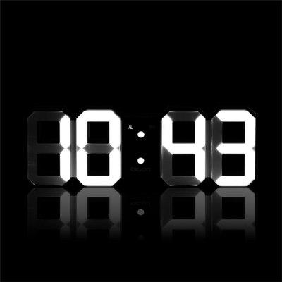 LED Digital Alarm Clock with Night Light Electronic 3D Number Style Modern Wall Mounted Desk Shelf Clocks with Adjustab