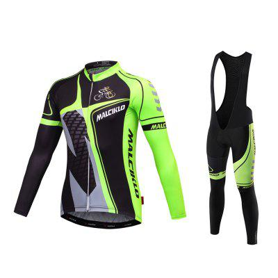 Malciklo 2017 Spring And Autumn Season Cycling Jersey Bib Tights Men Long Rompers Bike Compression Suits Quick Dry