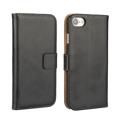 Cover Case for iPhone 7 / 8 Flat Two Layers of Cowhide Leather