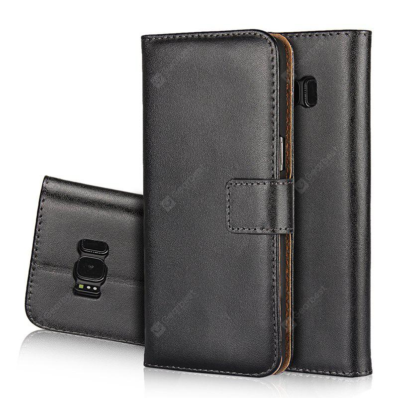Cover Case for Samsung Galaxy S8 Plus Flat Two Layers of Cowhide Leather