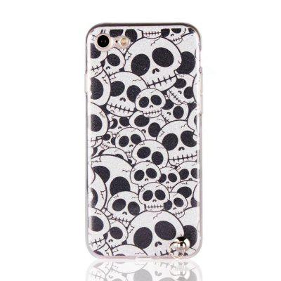 Funda para iPhone 7 Bling-Bling Funda Flash Powder Lanyard para TPU suave