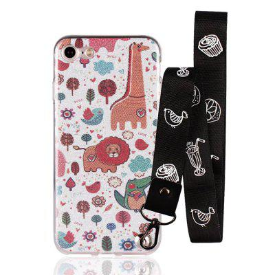 Cover Case for iPhone 8 Bling-Bling Flash Powder Lanyard Soft TPU CaseiPhone Cases/Covers<br>Cover Case for iPhone 8 Bling-Bling Flash Powder Lanyard Soft TPU Case<br><br>Features: Back Cover<br>Material: TPU<br>Package Contents: 1 x Phone Case<br>Package size (L x W x H): 20.00 x 20.00 x 5.00 cm / 7.87 x 7.87 x 1.97 inches<br>Package weight: 0.0300 kg<br>Product weight: 0.0100 kg<br>Style: Pattern, Sweet, Novelty, Cartoon