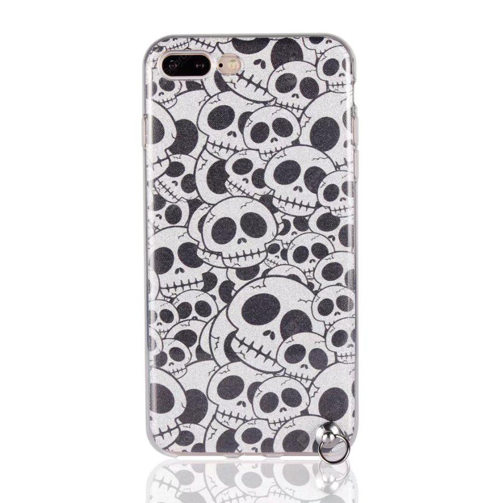 Funda de protección para iPhone 7 Plus Bling-Bling Funda de protección Flash Powder Soft TPU