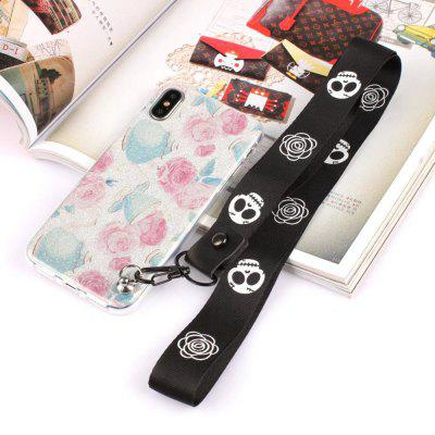 Cover Case for iPhone X Bling-Bling Flash Powder Lanyard Soft TPU CaseiPhone Cases/Covers<br>Cover Case for iPhone X Bling-Bling Flash Powder Lanyard Soft TPU Case<br><br>Features: Back Cover<br>Material: TPU<br>Package Contents: 1 x Phone Case<br>Package size (L x W x H): 20.00 x 20.00 x 5.00 cm / 7.87 x 7.87 x 1.97 inches<br>Package weight: 0.0300 kg<br>Product weight: 0.0100 kg<br>Style: Pattern, Sweet, Novelty, Cartoon