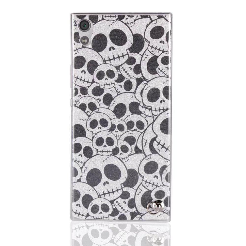Housse de protection pour Sony Xperia XA1 Utral Bling-Bling Flash Poudre longe Soft TPU Case