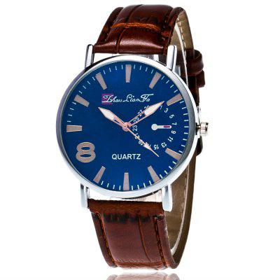 ZhouLianFa New Trendy Fashion Bamboo Pattern Silver Blue Face Quartz Watch