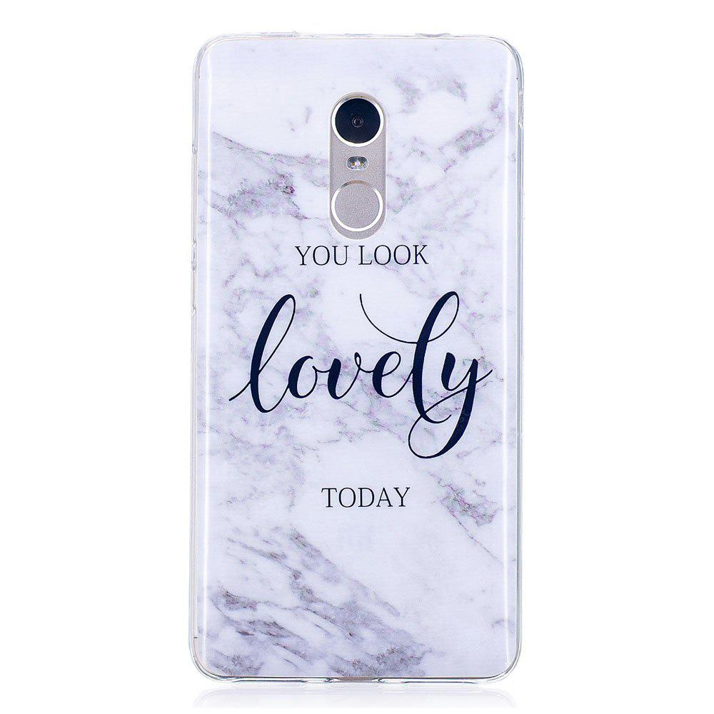 Lovely You Marble Style TPU Soft Cover Case for Xiaomi Redmi Note 4 / 4X
