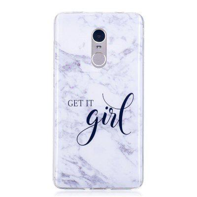 Girl Marble Style TPU Soft Cover Case for Xiaomi Redmi Note 4 / 4X