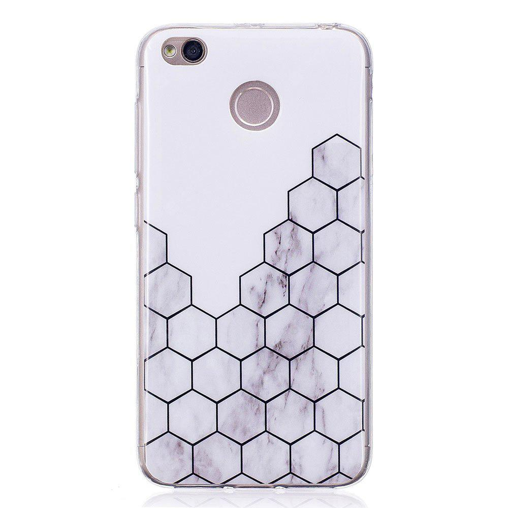 Cubic Marble Style TPU Soft Cover Case for Xiaomi Redmi 4X