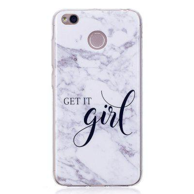 Girl Marble Style TPU Soft Cover Case for Xiaomi Redmi 4X