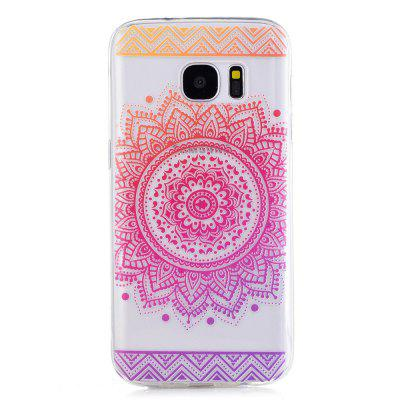 for Samsung Galaxy S7 Mandala Flower Pattern TPU Silicone Gel Soft Clear Case Cover