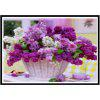 NAIYUE 9039 Lavanda Flower Basket Print Draw 5D Diamante Pittura Diamante Ricamo - VIOLA