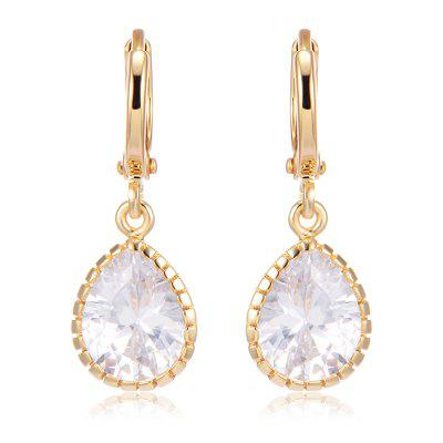 Simple Water Droplet Zircon Earrings ER0571