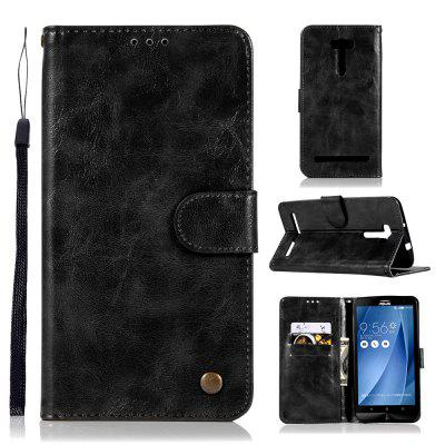 Flip Leather PU Custodia a portafoglio Custodie per ASUS ZenFone 2 Laser ZE601KL Custodia a 6 pollici Vintage Fashion Phone Bag con supporto