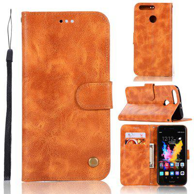 Luxuoso da moda do vintage virar leather case pu carteira capa casos para huawei honor 8 pro inteligente tampa do telefone saco com suporte