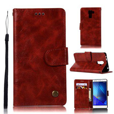 Custodia rigida in pelle PU Custodia rigida per Huawei Honor 7 Smart Cover Lussuosa borsa vintage di moda con supporto