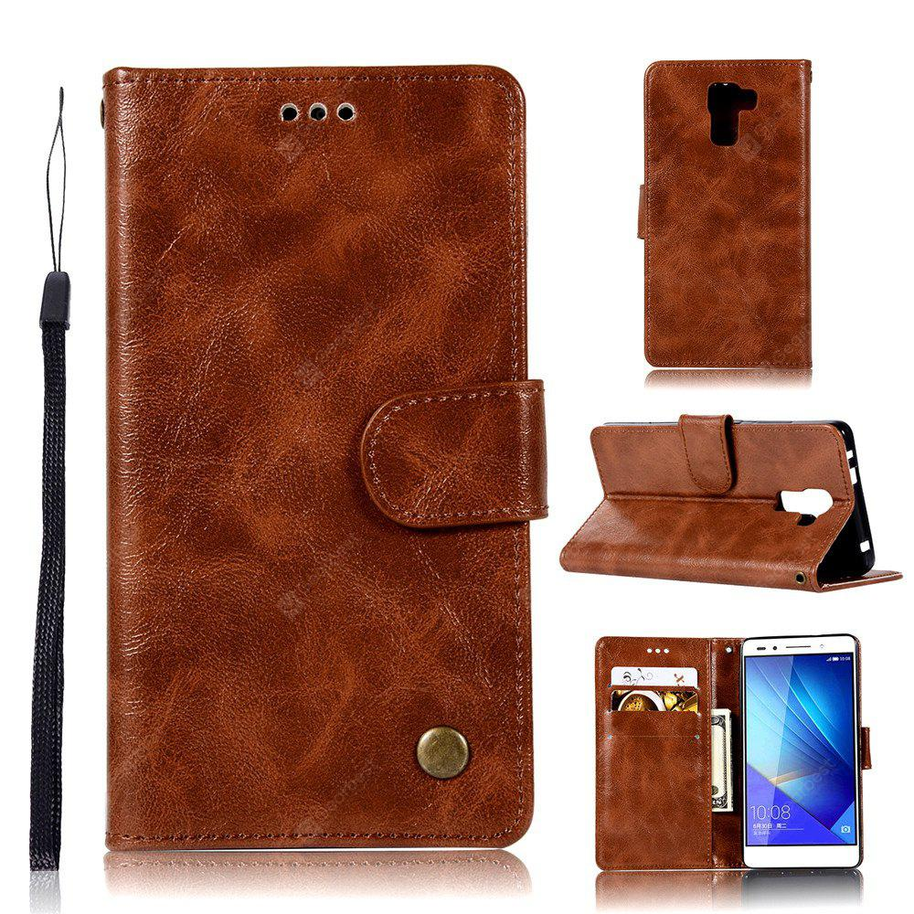 Flip Leather Case PU Wallet Cover Cases For Huawei Honor 7 Smart Cover Luxurious Retro Fashion Phone Bag with Stand