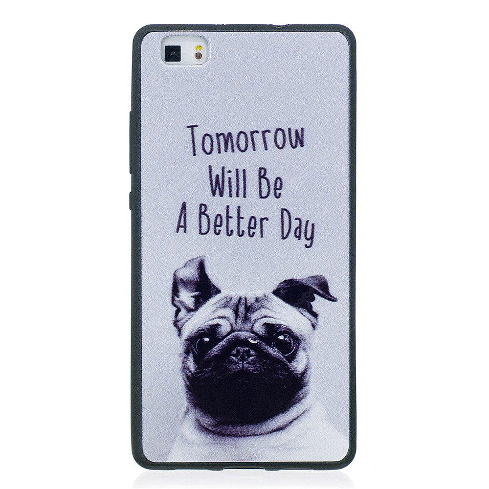 Phone Case for Huawei P8 Lite Pet Dog Fashion Cartoon Relief Soft Silicone TPU Cover Cases Protection Phone Bag