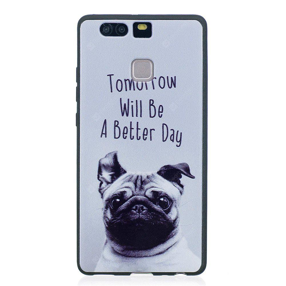 Phone Case for Huawei P9 Pet Dog Fashion Cartoon Relief Soft Silicone TPU Cover Cases Protection Phone Bag