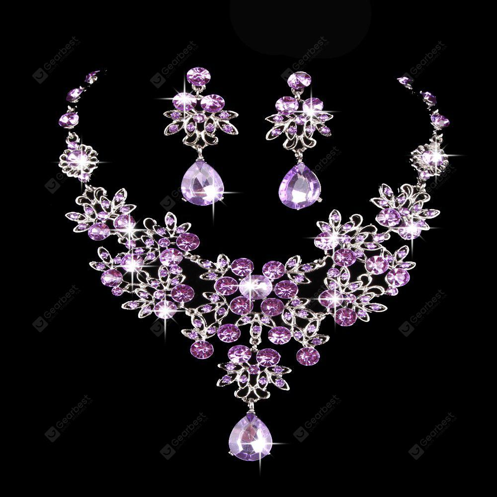 jewellery necklaces metal shop bridal wedding set necklace earring gold statement jewels g dbk crystal