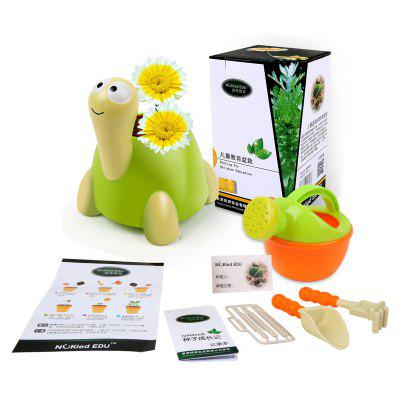Crown Daisy Planting Toy Animal Shaped Flowerpot Growing Learning Toy