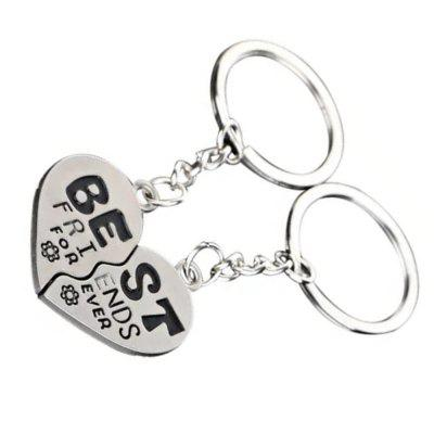 1 Pair Split Heart Zinc Alloy Keyring Best Friends Key Chain Cute GiftKey Chains<br>1 Pair Split Heart Zinc Alloy Keyring Best Friends Key Chain Cute Gift<br><br>Design Style: Literature and Art<br>Gender: Unisex<br>Materials: Alloy<br>Package Contents: 2 x Key Chain<br>Package size: 5.00 x 5.00 x 1.50 cm / 1.97 x 1.97 x 0.59 inches<br>Package weight: 0.0190 kg<br>Product weight: 0.0100 kg<br>Theme: Love