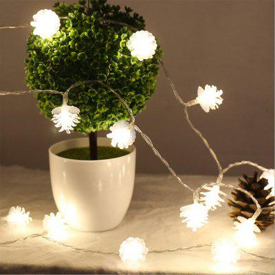 BRELONG LED Pine Cone Light String Decorative Romantic Lights 20LED-USB interface