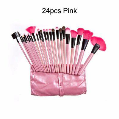 The miss 24-32 Pcs Makeup Brushes Cosmetic Tool Foundation Eyeshadow Powder Make Up Brush Set +Bag pincel maquiagem -H439SCX make up for you portable cosmetic makeup 7 in 1 brushes set purple