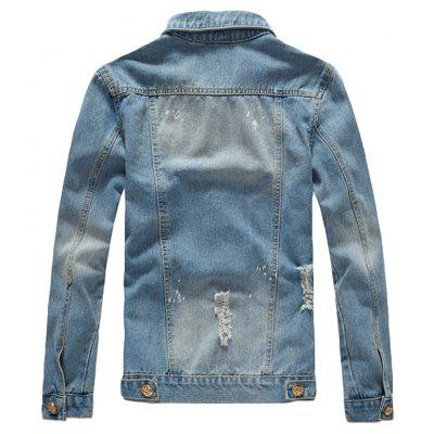 Mens Jacket Fashion Cool Washed Style Hole Design Frayed Denim JacketMens Jackets &amp; Coats<br>Mens Jacket Fashion Cool Washed Style Hole Design Frayed Denim Jacket<br><br>Clothes Type: Jackets<br>Collar: Turn-down Collar<br>Material: Acetate, Cotton<br>Package Contents: 1 xJacket<br>Season: Fall, Spring, Summer, Winter<br>Shirt Length: Regular<br>Sleeve Length: Long Sleeves<br>Style: Casual<br>Weight: 0.5000kg