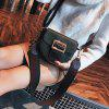 Fashionable Small Bag Wide Shoulder Strap Simple Messenger Bag Wild Shoulder Bag - BLACK