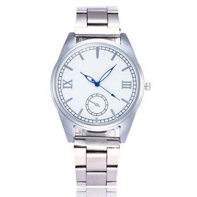 Fashion Watch Classic Business Watch Silver Strip with Gift Box
