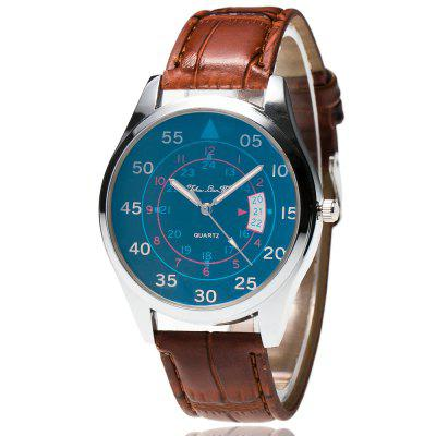 ZhouLianFa The New Trend of Fashionable Bamboo Pattern Blue Neutral Watch with Gift Box