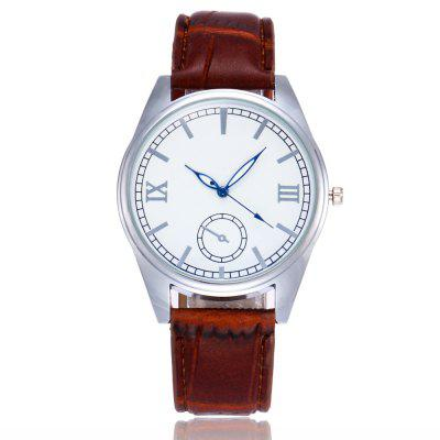 New Trendy Fashion Silver Dial Luminous Quartz Watch with Gift Box