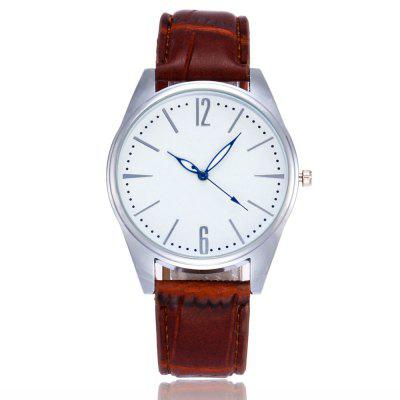 New Fashion Slub Pattern Strap Silver Dial Neutral Quartz Watch with Gift Box