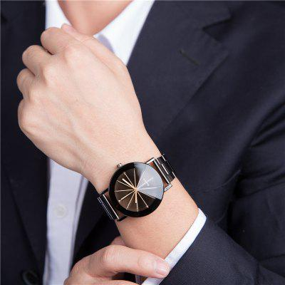 REEBONZ Fashion Sun Ray Lovers Gun Black Quartz Watch