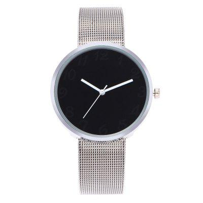 Geneva Fashion Couple Watch Women Men Fashion Stainless Strap Wristwatch