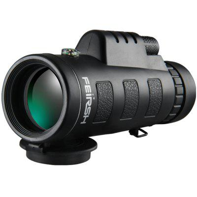 FEIRSH 12X 52mm Monocular Telescope with Green FMC Lens