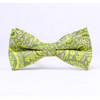Men'S Classic Paisley Polyester Jacquard Bow