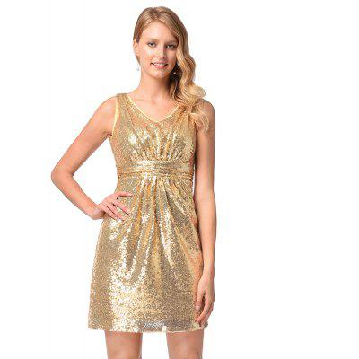 Sexy V-Neck Bridesmaid Dresses Sleeveless Sequins DressWomens Dresses<br>Sexy V-Neck Bridesmaid Dresses Sleeveless Sequins Dress<br><br>Image Source: Actual Images<br>Package Contents: 1xdress<br>Season: Spring, Summer, Fall, Winter<br>Silhouette: A-Line<br>Weight: 0.4000kg