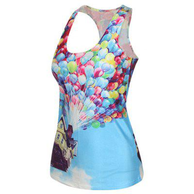 The Lady Has A Digital Print VestTank Tops<br>The Lady Has A Digital Print Vest<br><br>Closure Type: Fully Enclosed<br>Collar: U Neck<br>Elasticity: Elastic<br>Fabric Type: Chiffon<br>Hooded: No<br>Material: Polyester, Nylon, Spandex<br>Package Contents: 1x i-type vest<br>Pattern Type: Others<br>Shirt Length: Short<br>Style: Fashion<br>Thickness: Standard<br>Weight: 0.2000kg