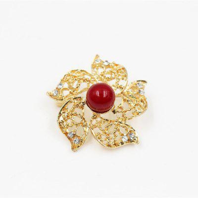 Colorful Crystal Pearl Bead Gold Color Flower Wedding Brooch Star Shape Pin Jewelry Women Gift Brooches for Scarf
