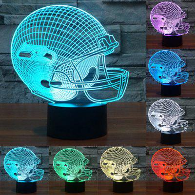 3D Illusion LED Table Lamp Night Lights Rugby Cap Desk Lampen Seahawks Helmet led Light Touch 7 Colors Changing
