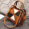 Borsa a tracolla per cartellonista in plaid femminile - MARRONE