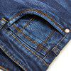 Men Straight Fit Stretch Denim Jeans Large Size Men Trousers - BLUE