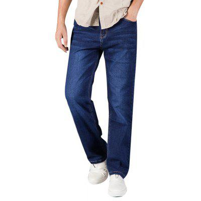 Buy Men Plus Size Loose Fit Stretch Denim Pants Casual Cowboys Man Jeans CERULEAN 40 for $32.55 in GearBest store