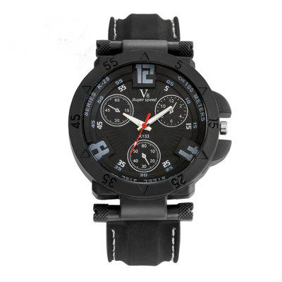 Super Speed Black color men's Watches male Thin Silica Gel Students Sports Quartz Watch