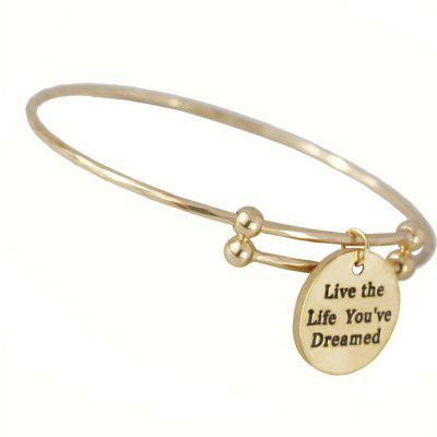 Live The Life You've Dreamed Adjustable Cuff Bangle For Womens Jewelry