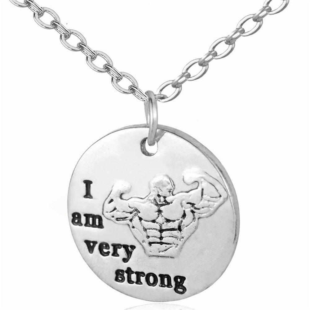 dumbbell fearless sale fitness necklace hot products sterling cha gold silver jewelry