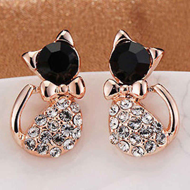 zircon studs pearl earrings purpose bow round lady earring dual sweet